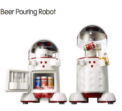 robot beer pourer