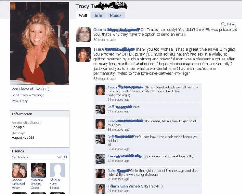 blonde facebook fails