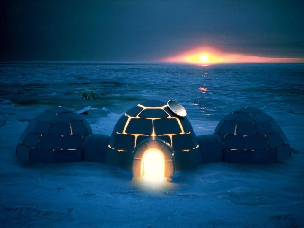 igloo at night